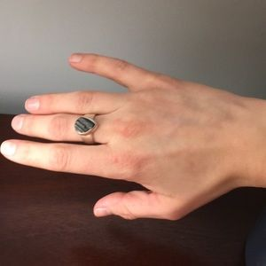 Jewelry - Black Tourmaline Sterling Silver Ring